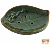 Keramik Räucherteller `Blatt`