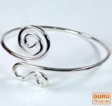 Indischer Oberarm Armreifen Messing, Boho Armschmuck - Spirale
