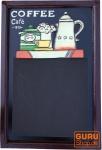 Retro Wandtafel 3-D - Coffee