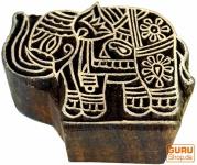 Holzstempel Elefant filigran