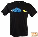 Fun T-Shirt `Fisch gegen U-Boot`