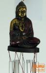 Klangspiel mit Buddha rot