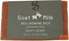 Handgemachte Ziegenmilch Seife, 100 g, Fair Trade - Red Jasmin Rice