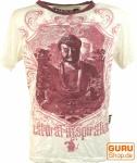 Weed T-Shirt Buddha - weiß