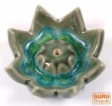 Keramik Räucherteller `Lotusblüte` - Modell 18