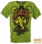 Baba T-Shirt Ganesha mit drittem Auge - grün