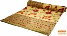 Blockdruck Tagesdecke, Bett- Sofaüberwurf, handgearbeiteter Wandbehang, Wandtuch Nr. 103