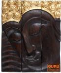 Dreiteiliges Buddha Wandbild 25*30 cm linksblickend