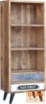 Bücherregal mit 2 Schubfächern Vintage-Design