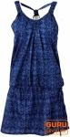 Minikleid in sommerlichem Druck - blau