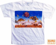 Kinder T-Shirt Hippie Goa mit `Schildkröte`