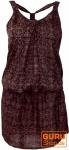 Minikleid in sommerlichem Druck - braun