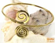 Boho Armreifen, Ethno Armspange, Spirale - gold
