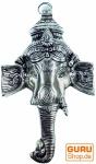 Ganesha Maske aus Weißmetall - Design 1