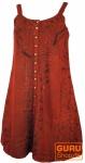 Besticktes indisches Boho Kleid, Hippie chic Minikleid- rot - Design 27