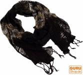 Batiktuch natur - schwarz/braun