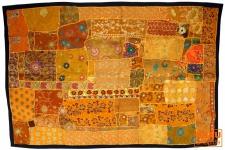 Indischer Wandteppich Patchwork, Einzelstück