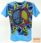 Mirror T-Shirt - Peace / blau