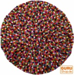 Runder Filzteppich, Bodenmatte aus kleinen Filz Kugeln - Ø 100 cm