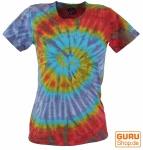 Batik T-Shirt, Tie Dye Goa Shirt - violett