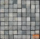 Karo Mosaik Fliesen aus grauem Marmor (P-03)