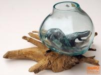 Wurzelholz Vase S - bis 15 cm