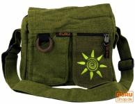 Schultertasche, Hippie Tasche Sonne - grün