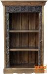 Kleines Regal aus alten Hölzern, mit Schnitzereien verziehrt JH17-034