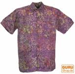 Hippiehemd, Bali - Batik Hemd - flieder