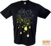 Fun T-Shirt `Großstadt` - schwarz