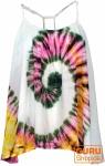 Batik Top, Trägertop, Sommertop, Strandtop, Hippie Top - weiß