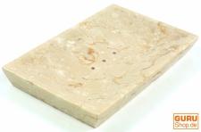 Marmor Seifenschale, Zen Schale für den Waschtisch - creme