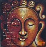 Buddha auf Leinwand 120*100 cm