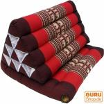Thaikissen, Dreieckskissen, Kapok, Tagesbett mit 1 Auflage - braun/rot