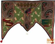Orientalischer Wandbehang, indischer Toran, Wimpel Wandteppich, Einzelstück