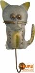 Kleiner Garderobenhaken, Metall Kleiderhaken - Katze 1