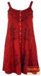 Besticktes indisches Kleid, Boho Minikleid, rot - Design 20