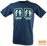 Fun T-Shirt `Problem solved` - blau