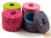 Bunte Schmuckschachteln aus handgeschöpftem Lokta Papier, 4er Set