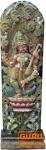 Antike Holzskulptur XXL, Wand Dekoration - Sitar