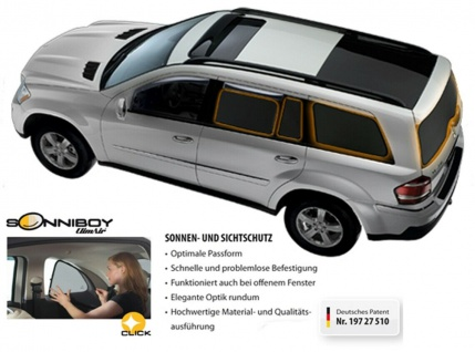 Mercedes GLA ab BJ 2013- Sonnenschutz Climair Sonniboy 3-teilig CLI0078424AC (Angebotsentwurf - Artikel nicht bestellbar!)