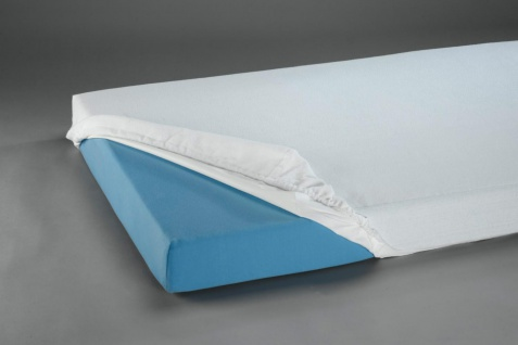 Spannbetttuch Frottee PU beschichtet, weiß 100 x 200 x 24 cm