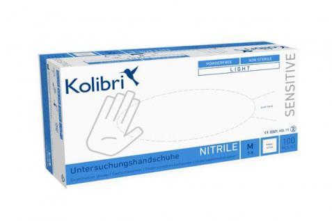 Kolibri Untersuchungshandschuhe Sensitive Nitril, puderfrei und unsteril-XL