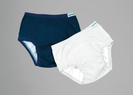 Inkontinenz-Slips für Kinder aus Baumwolle 128 weiß