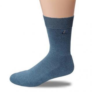 Business, Sport & Natur Komfort Socke Halbplüsch-jeansblau meliert-43-46