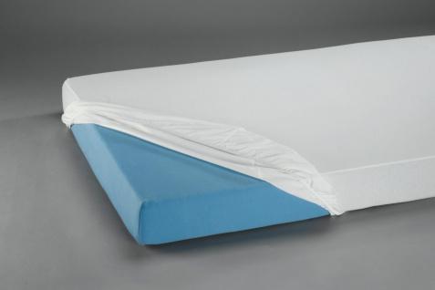 Spannbetttuch PVC 100 x 200 cm transparent blau