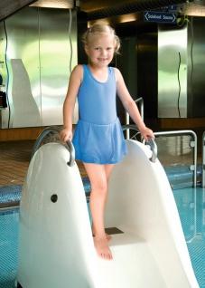 Badeanzug für Mädchen, hellblau 140