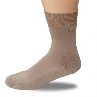 Komfort Amicor™-Socke Halbplüsch-weiß-35-38