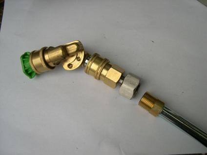 0 - 45° Gelenk M18 + Schnellkupplung + Düse für Kärcher Hochdruckreiniger Lanze