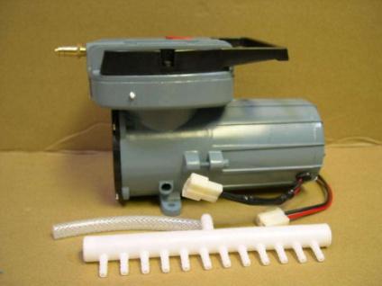 12 Volt Batterie - Belüfter 6900 l/h Sauerstoffpumpe Fischtransport Ausstellung